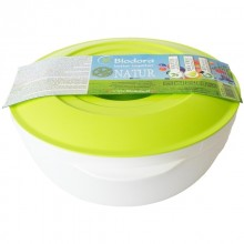 Bioplastic 1 Litre Bowl with Lid, green, Biodora