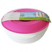 Bioplastic 1 Litre Bowl with Lid, magenta, Biodora