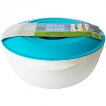 Bioplastic 1 Litre Bowl with Lid, turquoise, Biodora
