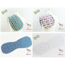 Spit Cloth made of Organic Cotton in different Designs – Cloth Protection