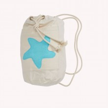 Sea Bag with Starfish Sea Blue, Organic Cotton