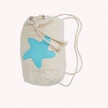 Sea Bag with Starfish Sea Blue, Organic Cotton