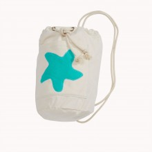 Sea Bag with Starfish Sea Green, Organic Cotton