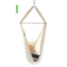 Set: Baby-Pendulo Cradle – Hammock with organic cotton mattress and door clamp