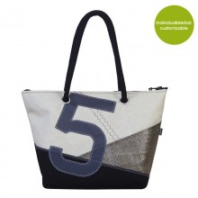 Marron Rouge Shopper & City Bag »Sail Boat 5« made of recycled or new canvas – customizable