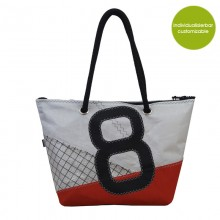 City Bag & Shopper »Sail Boat 8« made of recycled or new sailcloth – customizable