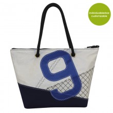 Shopper & City Bag »Sail Boat 9« made of recycled or new sailcloth – customizable