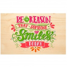 SMILE wooden postcard – Say it with Nature – PEFC® beechwood