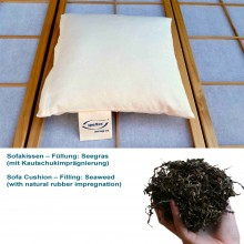 Sofa Cushion with Seaweed & natural rubber impregnation in organic cotton cover