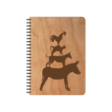 Town Musicians Notebook with genuine cherrywood veneer cover