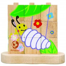 EverEarth wooden Stacking Puzzle – from caterpillar to butterfly