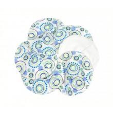 Washable Nursing Pads made of Organic Cotton, Motif Orbit, 3-pack