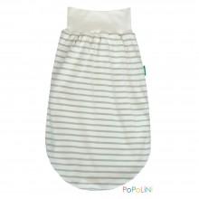 Eco Romper Bag Summer – Interlock Organic Cotton, Sand/Natural Striped, Popolini