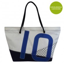 Beach Bag »Sail Boat 10«  made of recycled sailcloth or new canvas – customizable