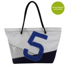 Beach Bag »Sail Boat 5«  made of recycled sailcloth or new canvas – customizable