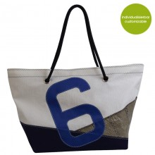 Beach Bag »Sail Boat 6« made of recycled sailcloth or new canvas – customizable
