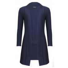 Long Cardigan in simple elegance of Organic Virgin Wool