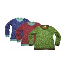 Women Knit Pullover Ida with Paisley