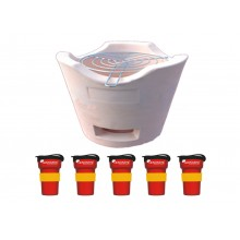 Thai BBQ Grill and 5 Reusable Cup Treecup 300 in German Look
