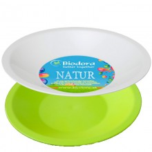 Soup plate made of bioplastics in various colours