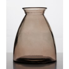 Vase of 100% Recycled Glass, 20 cm high – brown