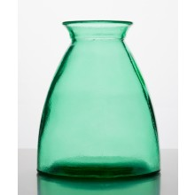 Vase of 100% recycled glass, 20 cm high – green