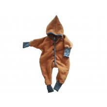 Dwarfs Jumpsuit Eco Wool Fleece  with hood, buttoned