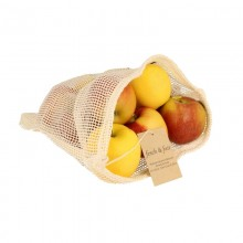 Vegan certified Fruit- and Vegetable String Bag made of organic cotton