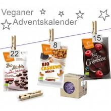 Vegan Advent calendar with organic snacks