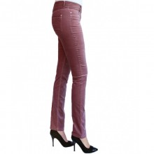 bloomers Organic Cotton Slim Fit Velvet Trousers in Rose