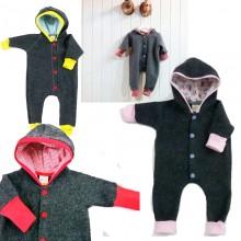 Bio Baby Overall made of Merino-Wool Fleece