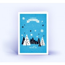 Winter Landscape  – Eco Christmas Card, DIN A6 upright Set of 5 (German)