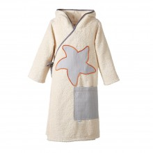 early fish Kids Organic Bathrobe Classic Natural