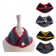 Triangular scarf - Eco wool fleece Bandana – Baby & Toddler Scarf