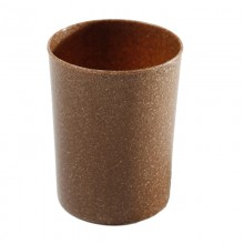 Toothbrush Mug made of Liquid Wood, brown