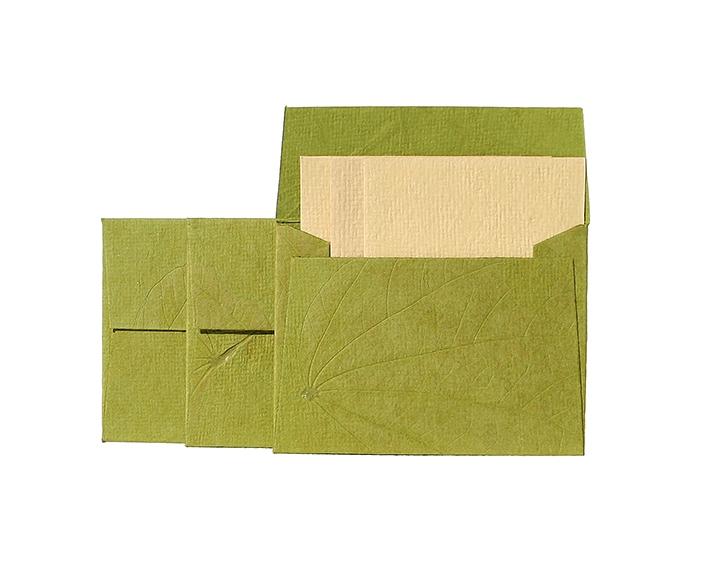 Geschenkkarten 3er-Set mit Umschlägen – Grün