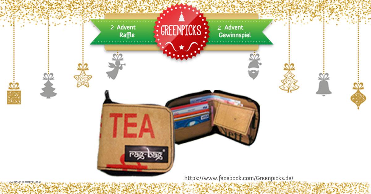 Gewinnspiel zum 2. Advent: Gewinne 1 x Upcycling Geldbörse von Ragbag