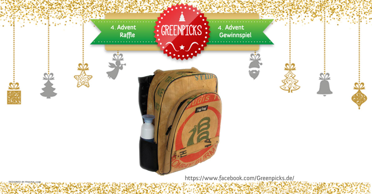 Raffle for 4. Advent and Christmas: Win an upcycled backpack by ragbag