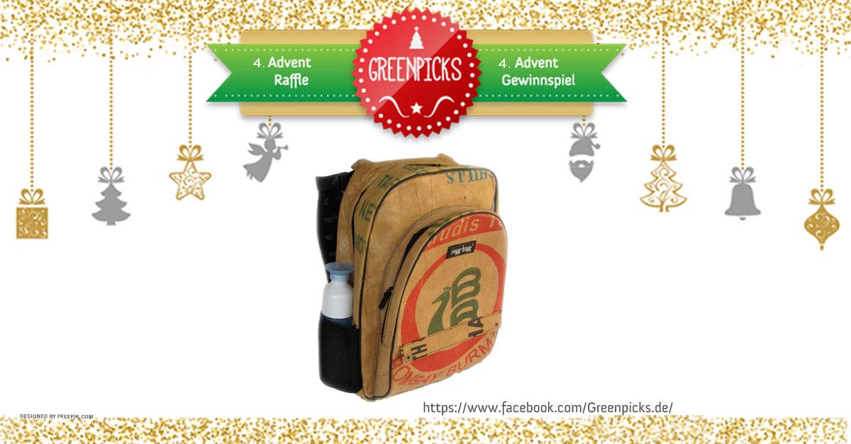 Gewinnspiel zum 4. Advent und zu Weihnachten: Gewinne 1 x Upcycling Rucksack von Ragbag