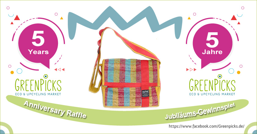 5 Years Greenpicks! - Win an upcycled shoulder bag by Ragbag