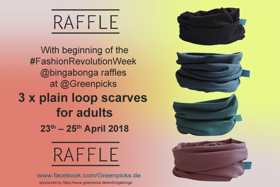 Raffle for Fashion Revolution Week 2018